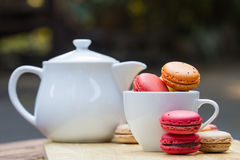 Macaron in  basket Royalty Free Stock Image
