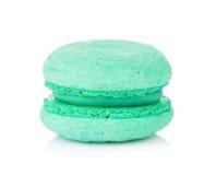 Macaron bleu vert de couleur Photographie stock