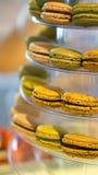 Macaron coloful dessert Stock Afbeelding