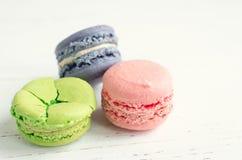 Macaron coloré de biscuits d'amande Photographie stock
