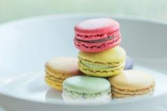 Macaron. Colorful macarons in beautiful background Stock Photos