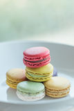 Macaron. Colorful macarons in beautiful background Royalty Free Stock Photos