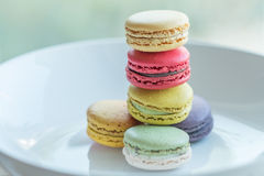 Macaron. Colorful macarons in beautiful background Stock Image