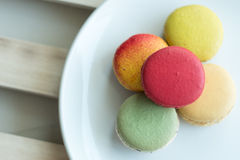 Macaron. Colorful macarons in beautiful background Royalty Free Stock Photo