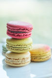 Macaron. Colorful macarons in beautiful background Royalty Free Stock Images