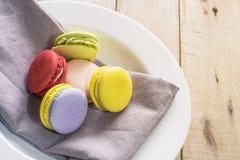 Macaron colorido Fotografia de Stock Royalty Free