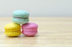 Macaron colorido Fotografía de archivo libre de regalías