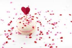 Macaron con cuore spruzza fotografie stock