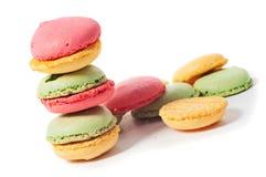 Macaron cookies on white Royalty Free Stock Image