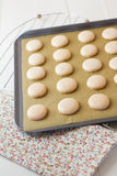 Macaron on cooling rack Stock Images