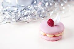 Macaron cor-de-rosa Fotos de Stock