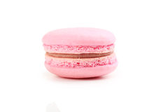 Macaron cor-de-rosa Imagem de Stock Royalty Free