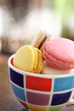 Macaron on cup Royalty Free Stock Image