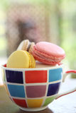 Macaron on cup Stock Photography