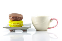 Macaron and cup Royalty Free Stock Image