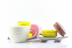 Macaron and cup Royalty Free Stock Images