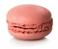 Macaron de la frambuesa aislado Imagenes de archivo