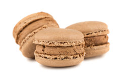 Macaron de trois Français Photo stock
