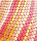 Macaron dekorativ vägg Arkivfoton