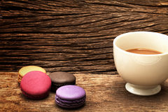 Macaron dessert and coffee cup Stock Photo
