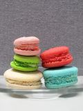 Macaron, dessert pendant le temps de th Photos stock