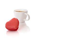 Macaron et café express Image libre de droits