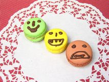Macaron expression Royalty Free Stock Photo