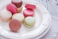 Macaron för franska bakelser Fotografering för Bildbyråer