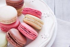Macaron för franska bakelser Royaltyfri Fotografi
