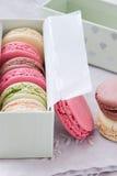 Macaron för franska bakelser Arkivfoto