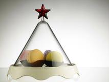 Macaron für Weihnachten Stockbilder