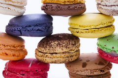 Macaron, fond blanc, sucrerie photo libre de droits