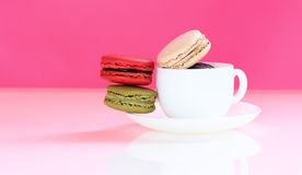 Macaron is food dessert of french. Royalty Free Stock Photo