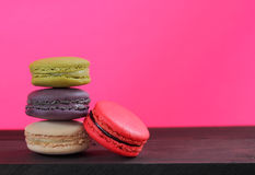 Macaron is food dessert of french. Royalty Free Stock Images