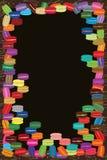 Macaron frame Stock Image
