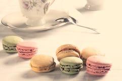 Macaron français traditionnel photographie stock