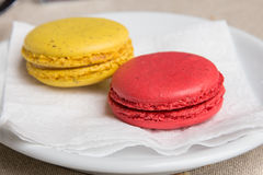 Macaron & x28; Francuz Macaroon& x29; Zdjęcie Stock