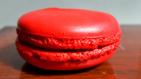 Macaron is a French confection of egg whites, powdered sugar, granulated sugar, ground almonds and food coloring. Stock Image