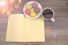 Macaron greeting card and background stock images