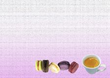 Macaron greeting card and background stock photo
