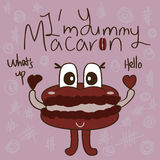 Macaron mascot cute Royalty Free Stock Images