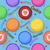 Macaron naadloos patroon Royalty-vrije Illustratie