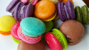 Macaron pastal. Colorful sweet french background food snack Royalty Free Stock Photo