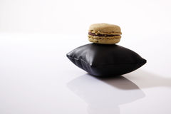 Macaron on a pillow Stock Image