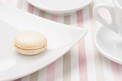 Macaron on a plate Royalty Free Stock Photo