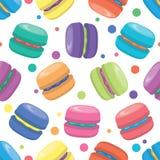 vector macaron seamless pattern Royalty Free Stock Image