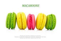 Macaron sur le blanc Images stock