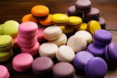 A macaron - sweet meringue-based confection.  Stock Image