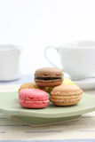 Macaron with tea cup Royalty Free Stock Photography
