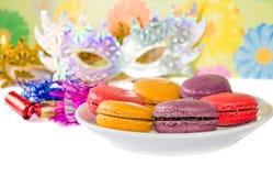 Macaron variopinto dolce Fotografia Stock Libera da Diritti